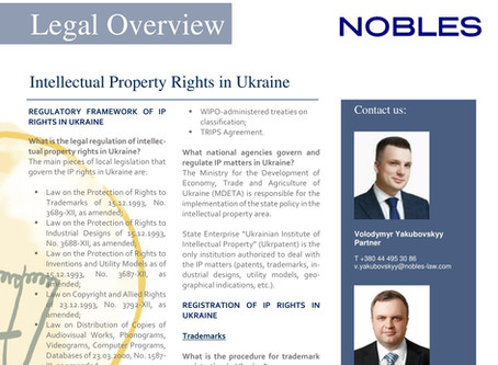Legal Overview: Intellectual Property Rights in Ukraine