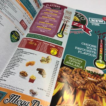 Glossy menu