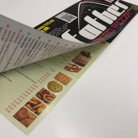 3 fold menu