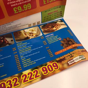 Folded glossy leaflet