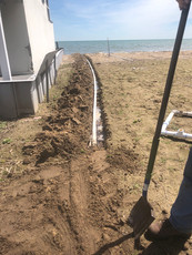 Pump Intake Line Trench