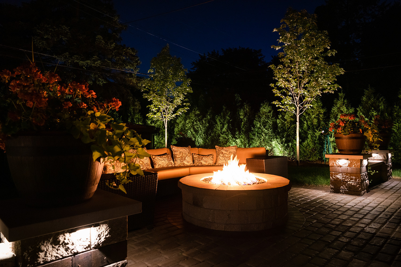 Cozy Backyard Lighting