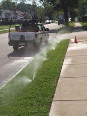 Lakeside Sprinkler Line Blowout