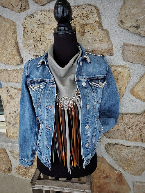 Silver only Denim Jacket (xsmall)
