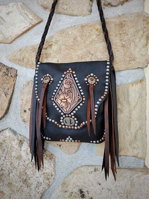 Tooled diamond purse #1