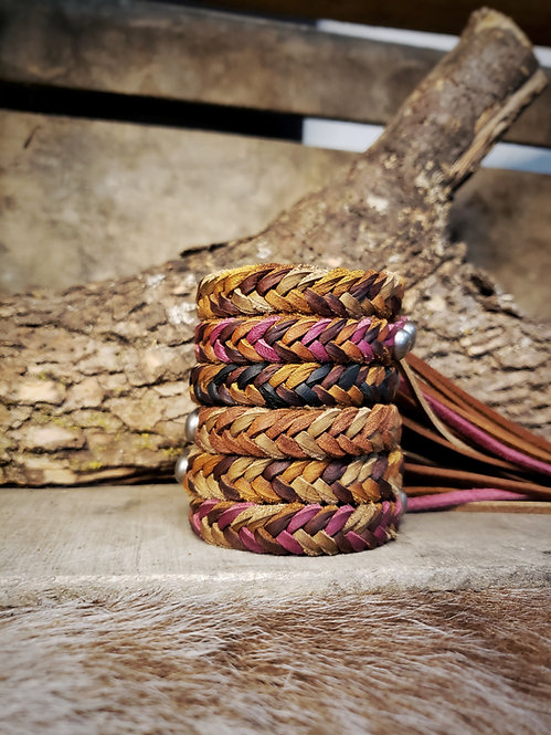 6string flat braid bracelet