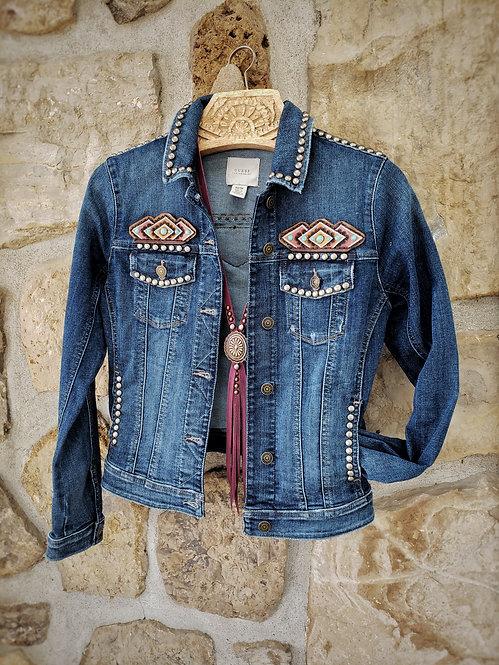 Aztec&Denim Jacket ( XS )