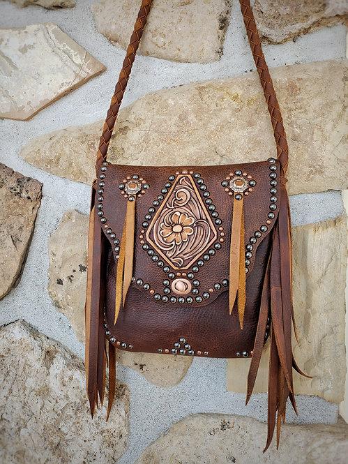 Tooled diamond purse #2