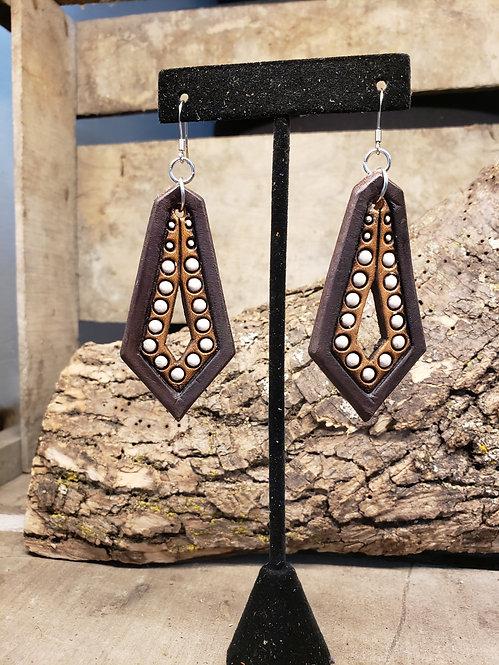 Brown Stamped earrings