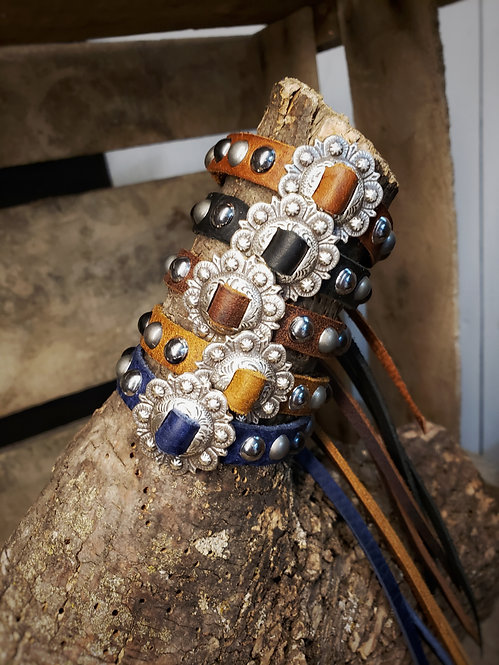 Silver Concho Bracelet