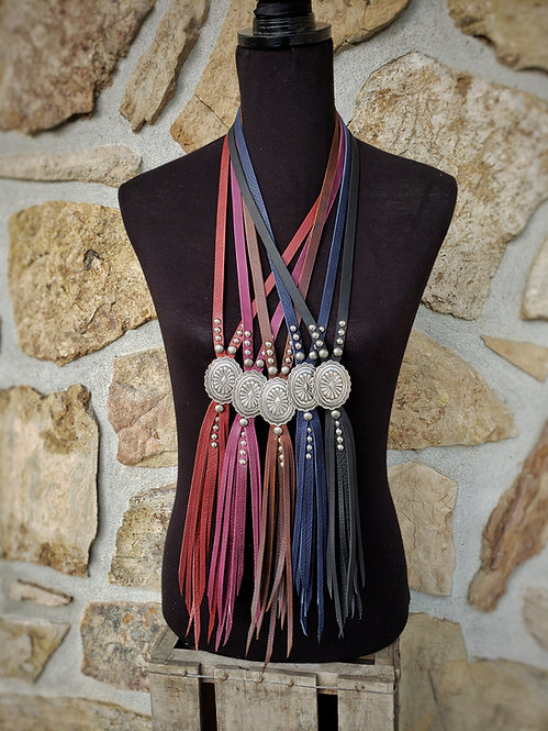 Silver Aztec Tassel Necklace