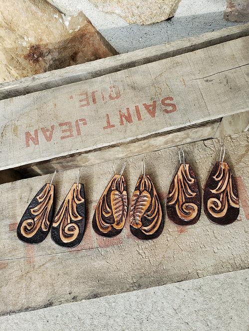Tooled Earrings