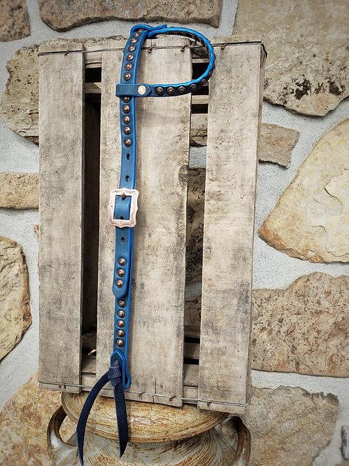 Color Splash Headstall (Blue \ Metallic Blue)
