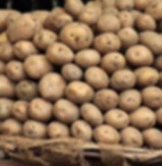 Russet Kartoffel-Stapel
