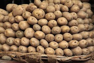 Russet Pile de pommes de terre