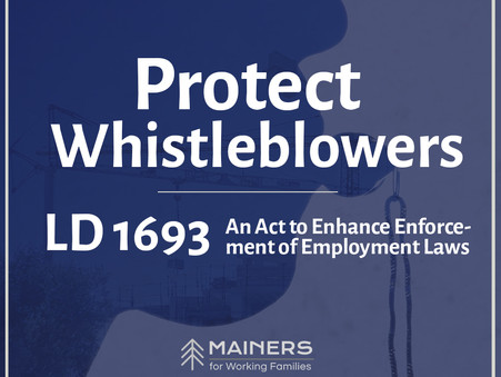 We need to protect whistleblowers in Maine