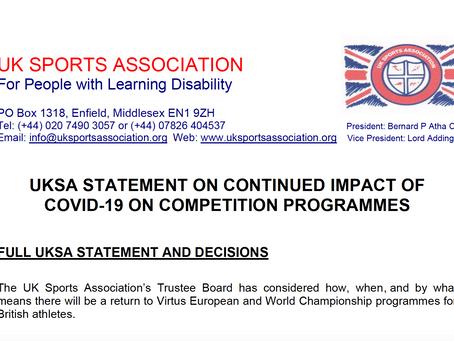UKSA Announcement...