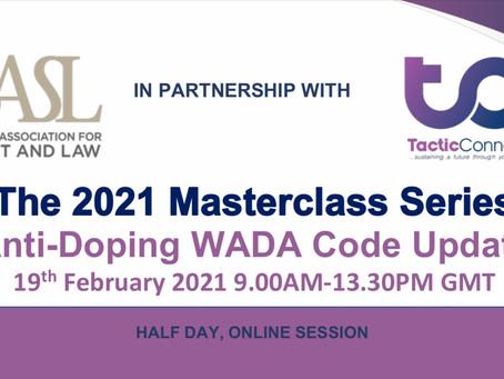 BASL Masterclass: Anti-Doping WADA Code Update