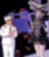 White military uniform made for Jane Wiedlin for Project Nunway 2013