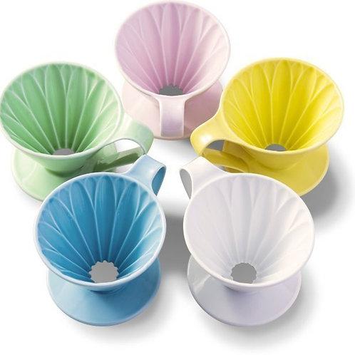 【日本製】三洋CAFEC Flower Dripper 有田燒花瓣濾杯