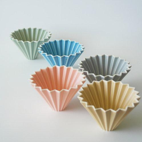 【日本製】Origami 啞光粉色摺紙咖啡陶瓷濾杯S號