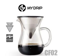 MY DRIP CF02手沖組合 開始沖煮咖啡後,喝咖啡就不只是消費,更是享受生活﹗  完成後只需用水沖洗器具,金屬濾網能循環使用,既方便又環保。