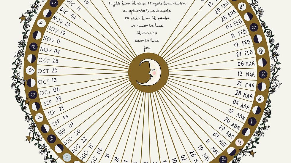 Calendario lunar A3