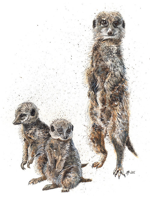 'Meerkat Family' Original Painting