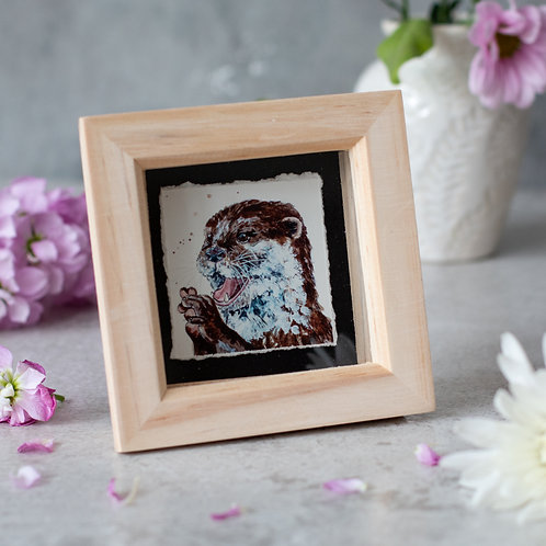 Happy Otter Mini Box Frame