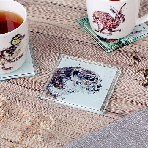 Otter Glass Coaster