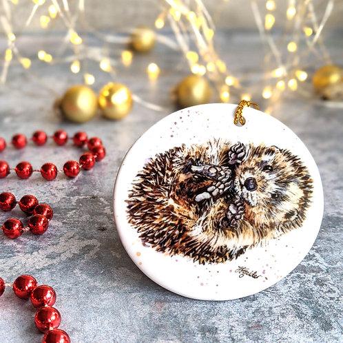 Hedgehog Christmas Decoration