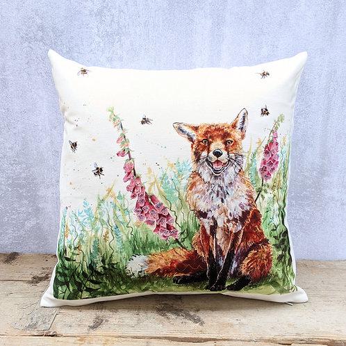Fox and Foxgloves Soft Cushion
