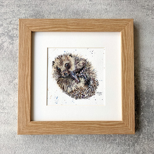 Bluebell Original Hedgehog Painting