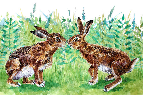 'Summer Loving' Original Hare Painting