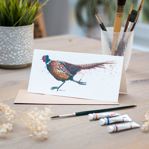 'Running Pheasant' Card