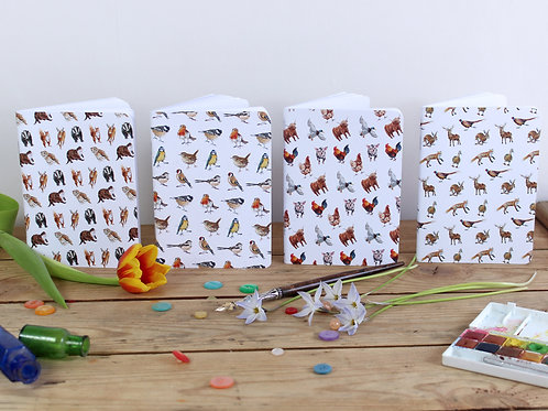 Mini Wildlife Notebooks (4 Patterns)