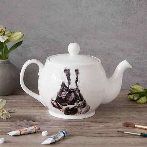 Badger & Cub Bone China Teapot