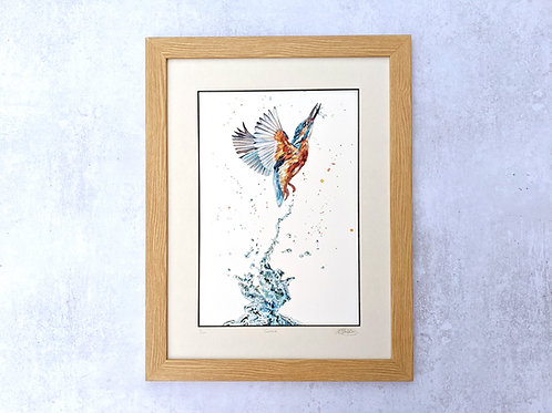 'Gotcha' Kingfisher Limited Edition Giclée Print