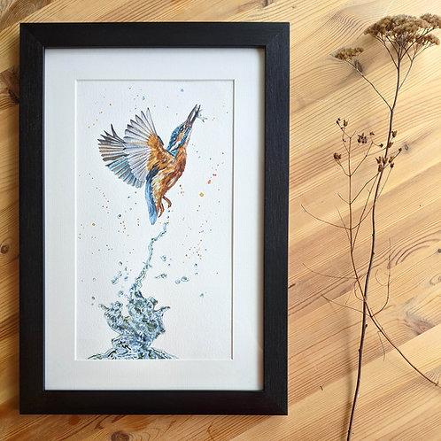 'Gotcha' Original Kingfisher Painting