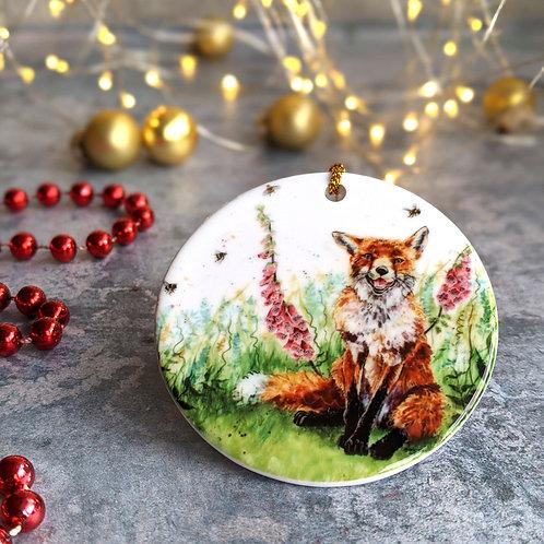 Fox Christmas Decoration