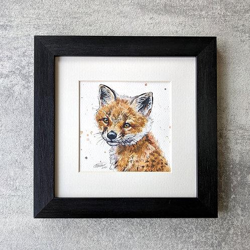 'Finley' Original Fox Cub Painting