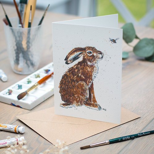 'Hilary' Hare Card