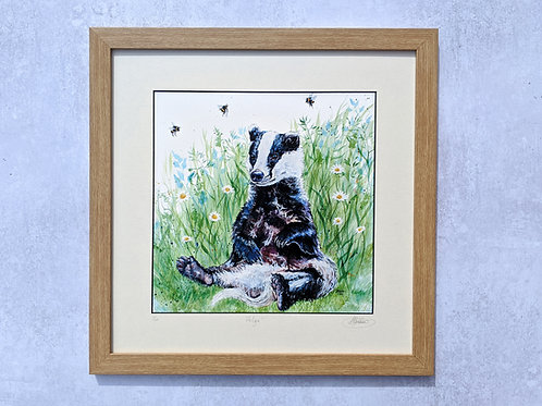 'Helga' Limited Edition Badger Print