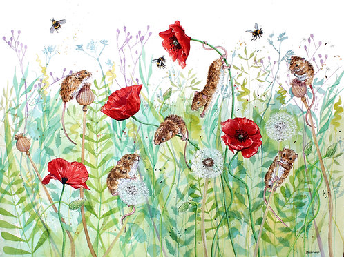 'Hide and Squeak' Original Mice Painting