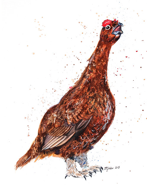 'Whisky' Original Grouse Painting