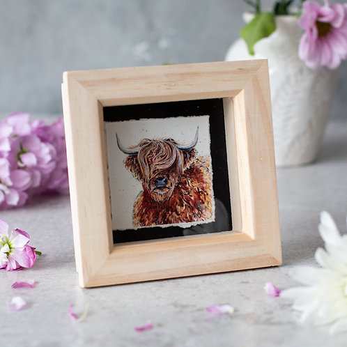 Highland Cow Mini Box Frame