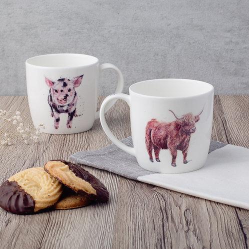 Coo and Pig China Mug