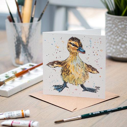 'Balancing Act' Duckling Card