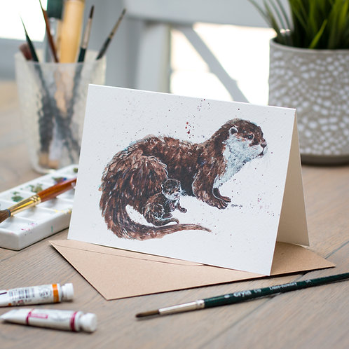 'Topsy and Tim' Otter Card