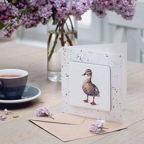 'Ripple' Duck Coaster Card